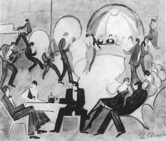"""Leon Chwistek  (1884-1944) """"Dancing"""", źródło: polskiemuzy.pl"""