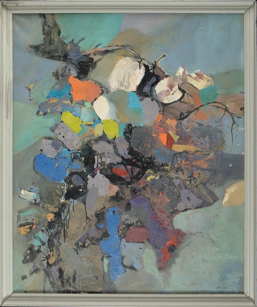 """Tadeusz Kantor (1915-1990) """"Kompozycja (Informel?)"""", źródło: Art Torg"""