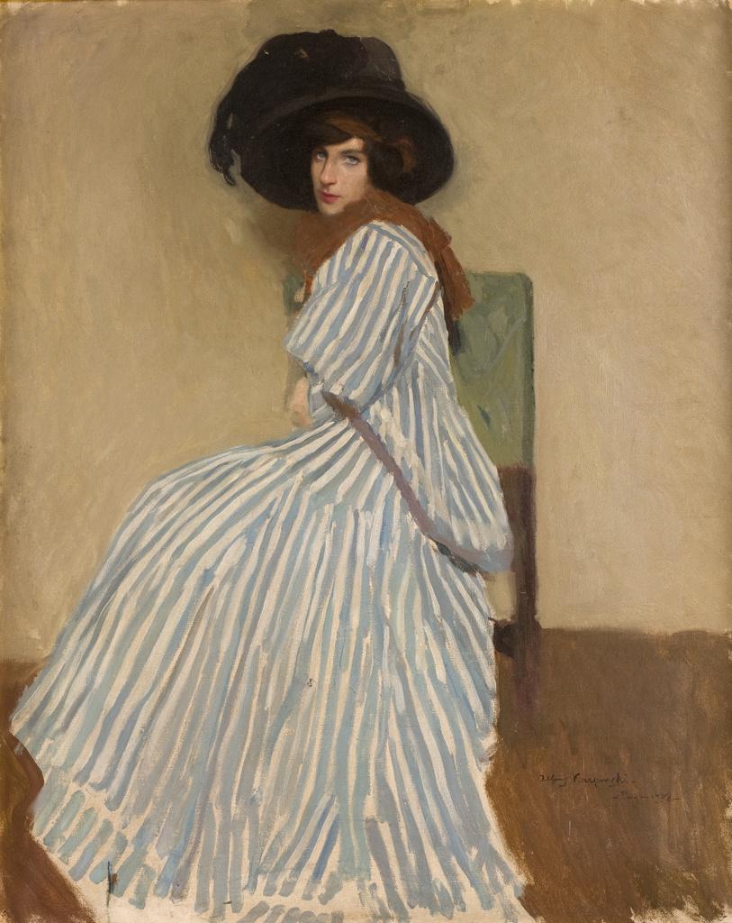 """Alfons Karpiński (1875 - 1961) """"Modelka Jane"""", 1908 rok, źródło: Muzeum Narodowe w Krakowie"""