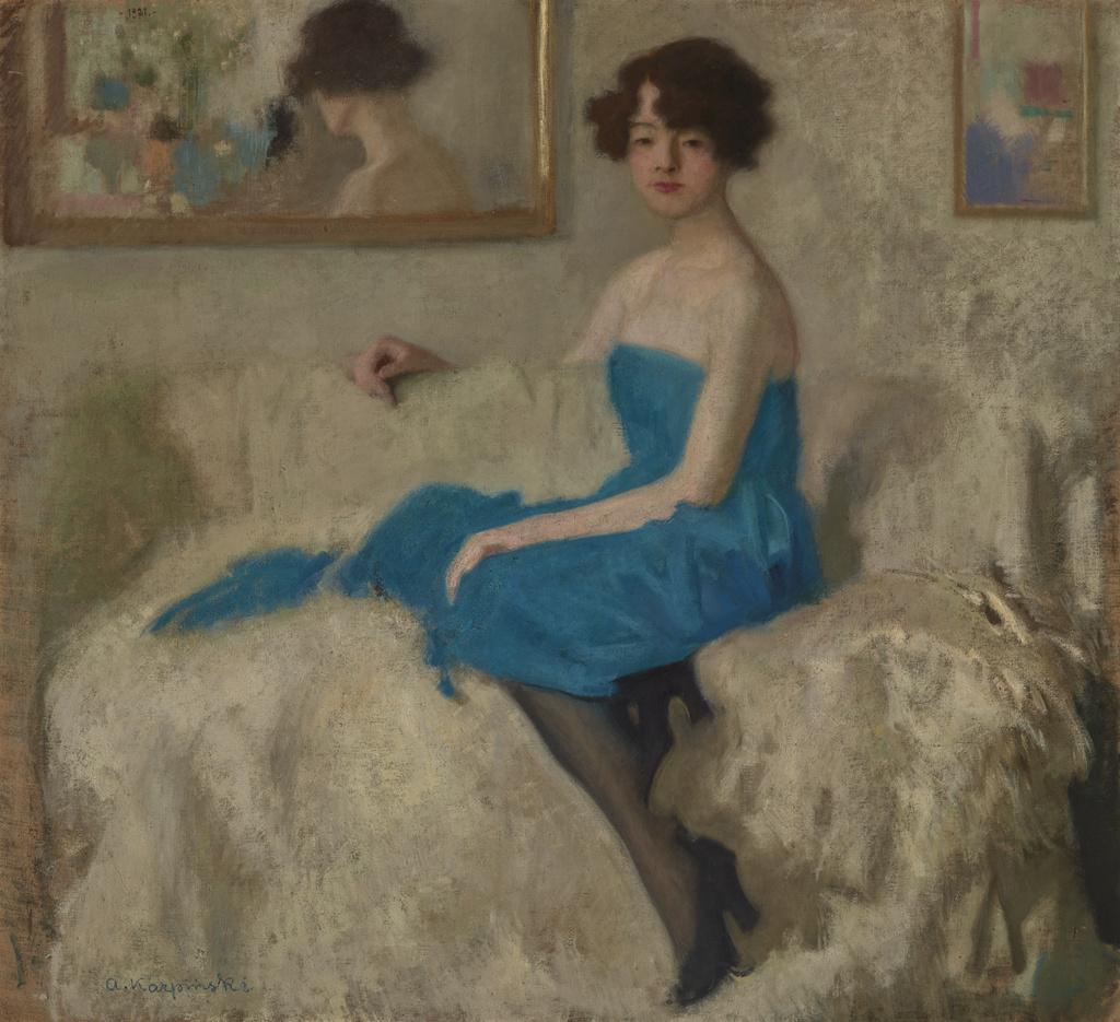 """Alfons Karpiński (1875 - 1961) """"Portret żony"""", 1921 rok, źródło: Muzeum Narodowe w Krakowie"""