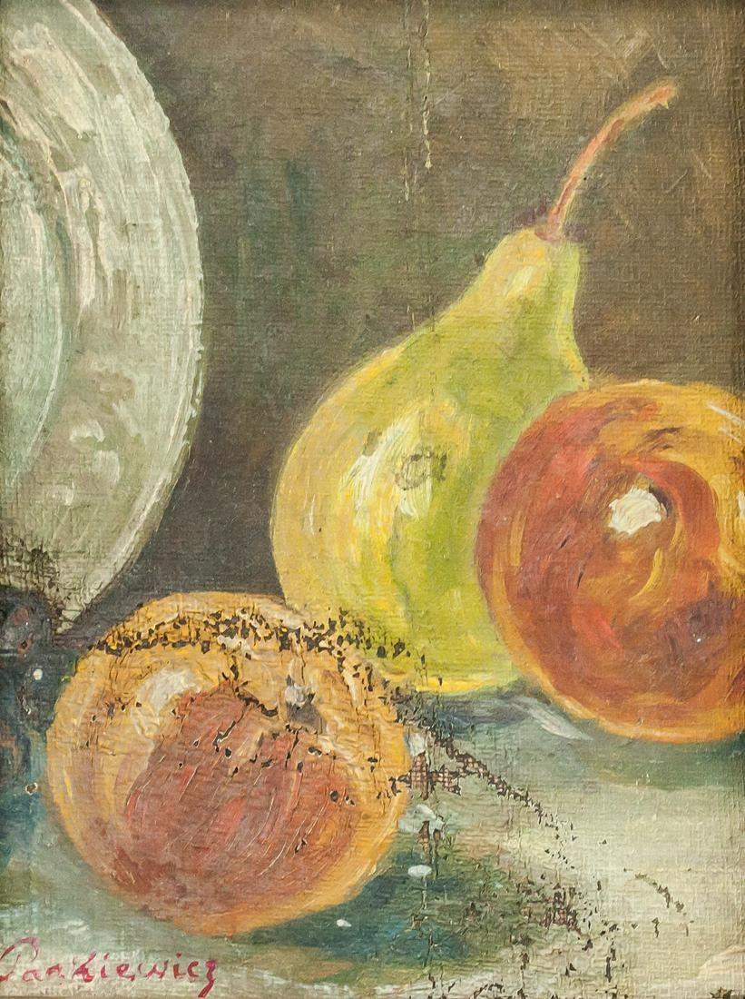 """Józef Pankiewicz (1866-1940) """"Gruszka i brzoskwinie"""", źródło: 888 Auctions"""