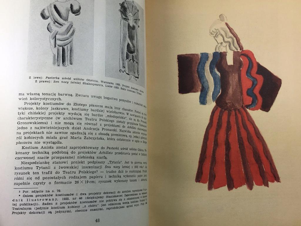 """Andrzej Pronaszko był człowiekiem renesansu. Oprócz tworzenia scenografii projektował też kostiumy teatralne, źródło: """"Pamiętnik teatralny. Andrzej Pronaszko"""""""