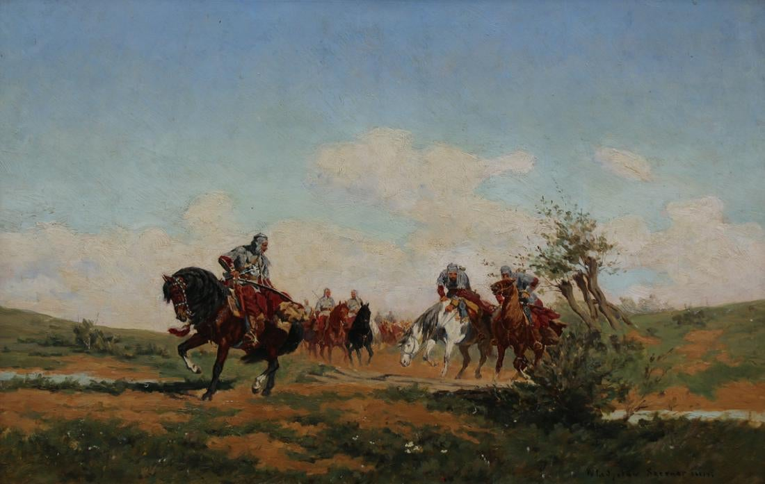 """Władysław Karol Szerner (Syn) (1870-1936) """"Towarzysze pancerni"""", źródło: Helmuth Stone"""