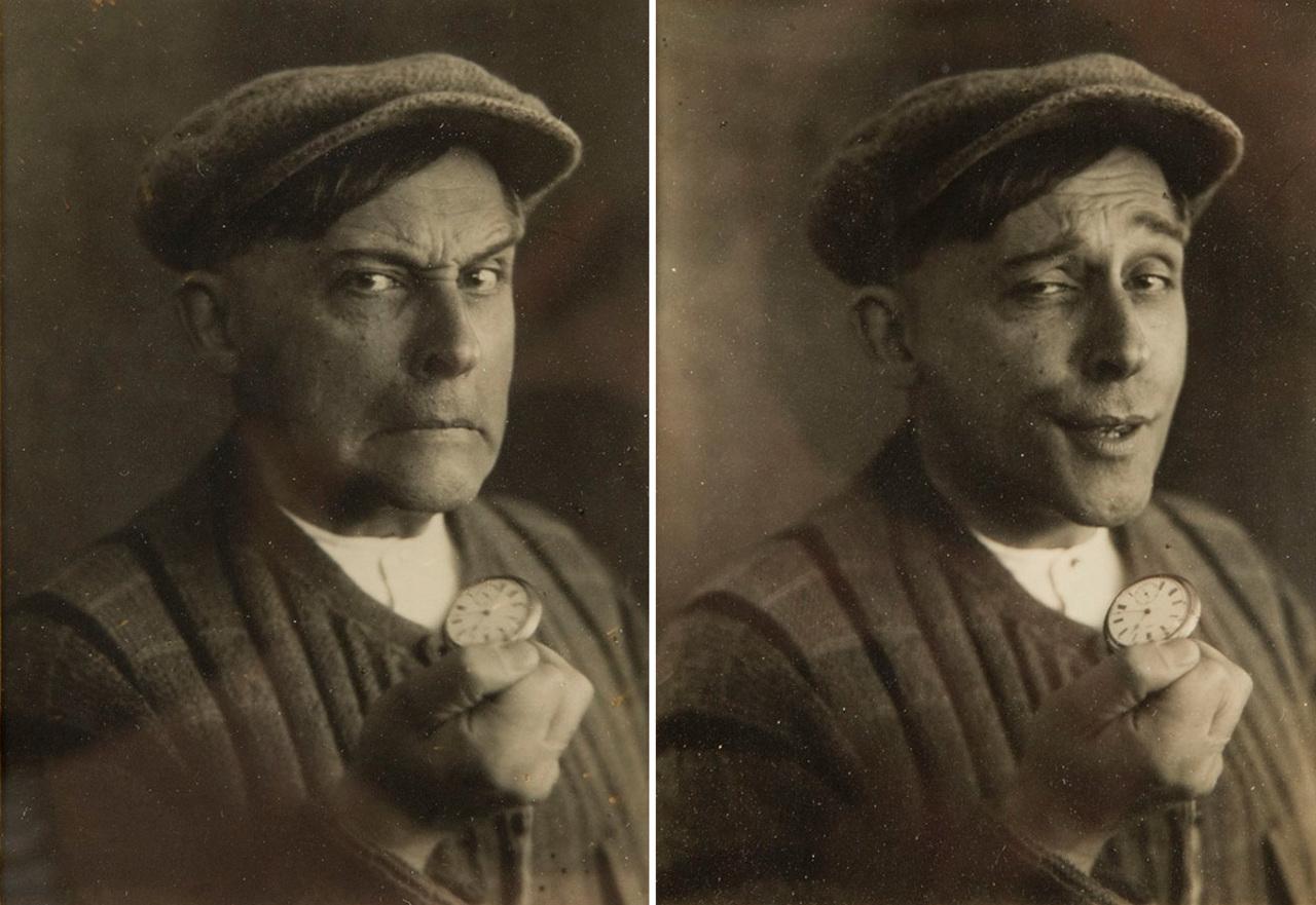 Dyptyk - autoportret fotograficzny Witkacego, źródło: Desa Unicum