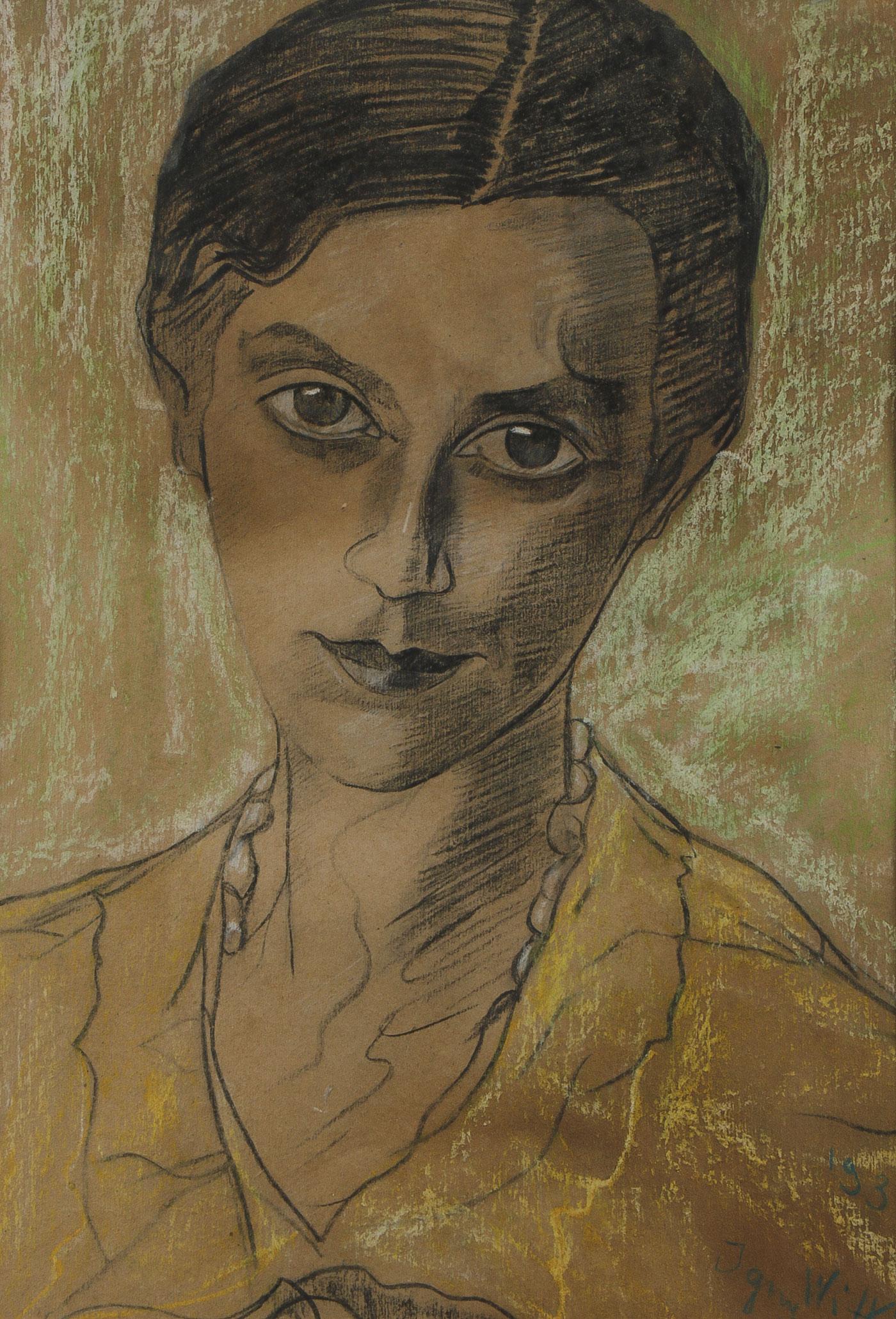 """Stanisław Ignacy Witkiewicz - Witkacy (1885-1939) """"Portret kobiecy"""" , źródło:  Jackson's International"""