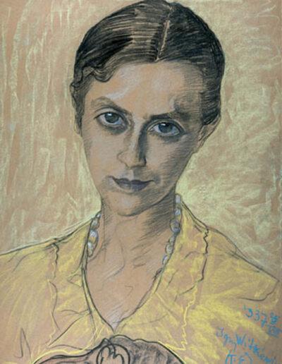 """Stanisław Ignacy Witkiewicz (1885-1939) """"Portret kobiety, 25 VIII 1937"""", źródło: Ostoya"""