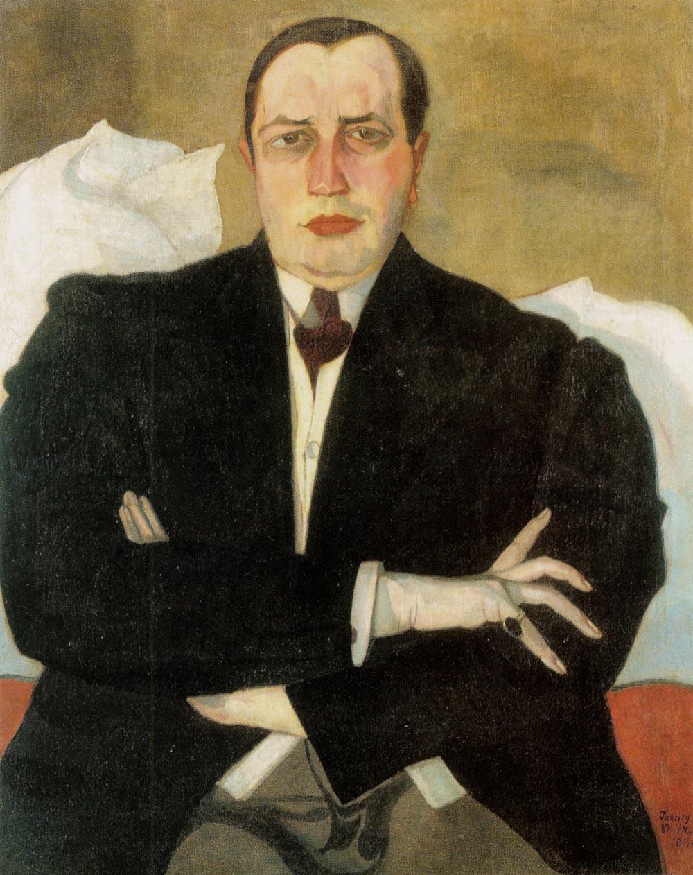 """Stanisław Ignacy Witkiewicz (1885-1939) """"Udzielny BYK na urlopie, portret Leona Chwistka"""", 1913 rok, źródło: Agra-Art"""