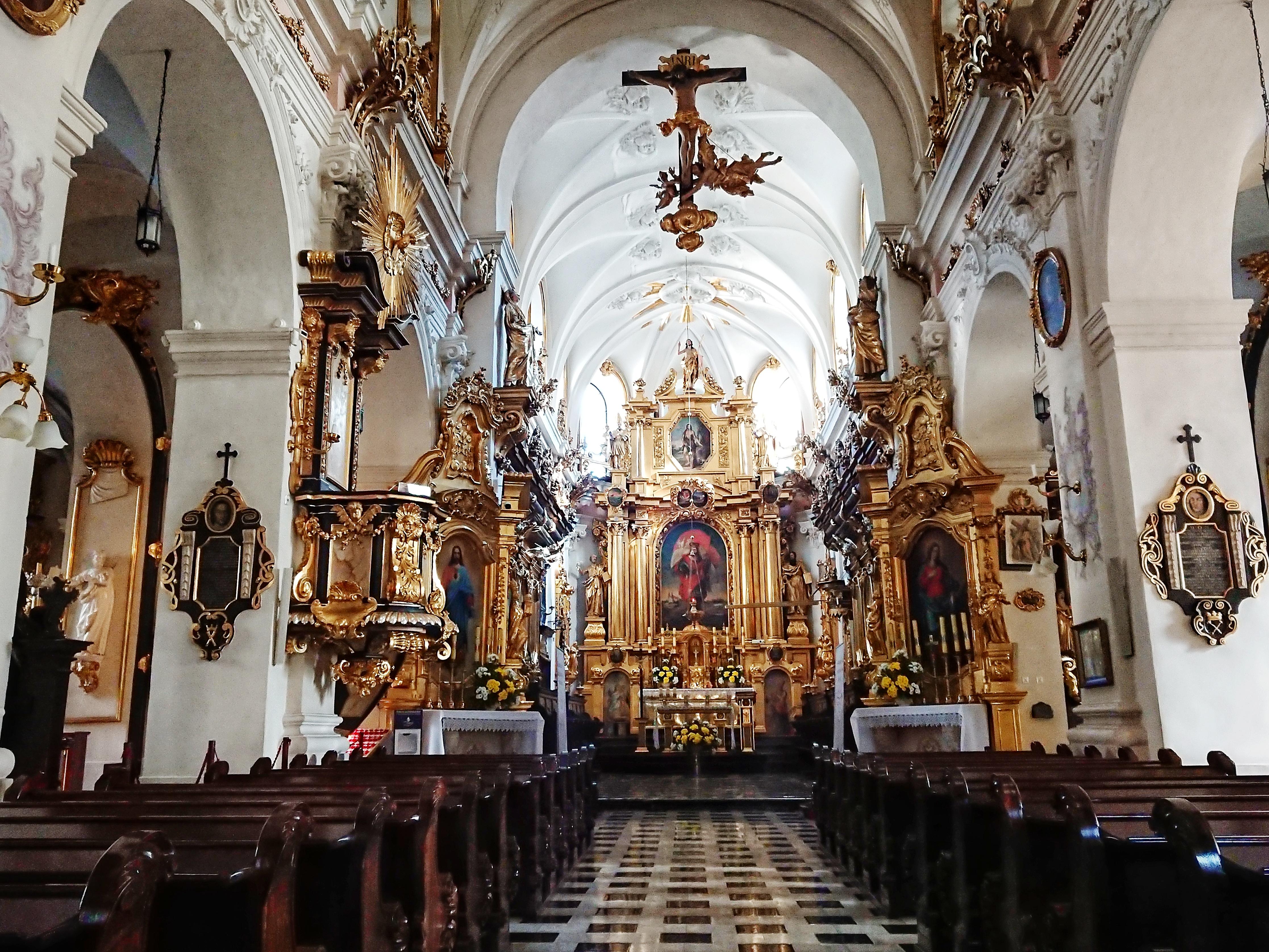 Wnętrze kościoła św. Floriana, źródło: archiwum autorki