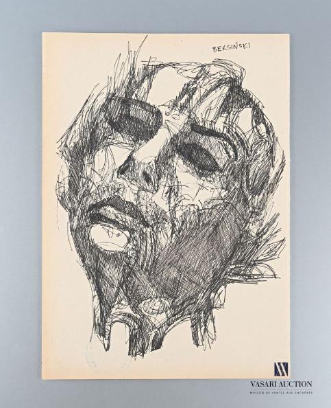 """Zdzisław Beksiński (1929-2005) """"Twarz"""", źródło: Vasari Auction"""
