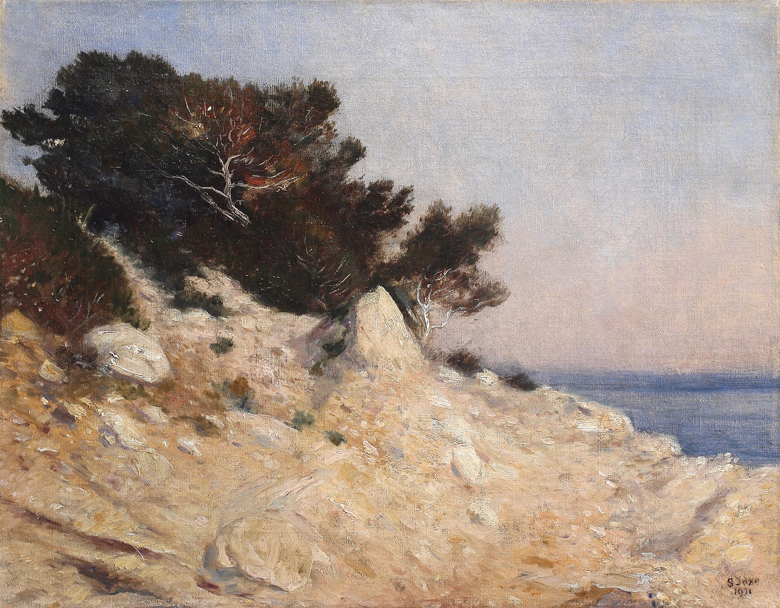 """Soter Jaxa-Małachowski (1867-1952) """"Cap d'Ail"""", 1911 rok, źródło: Salon Dzieł Sztuki Connaisseur"""