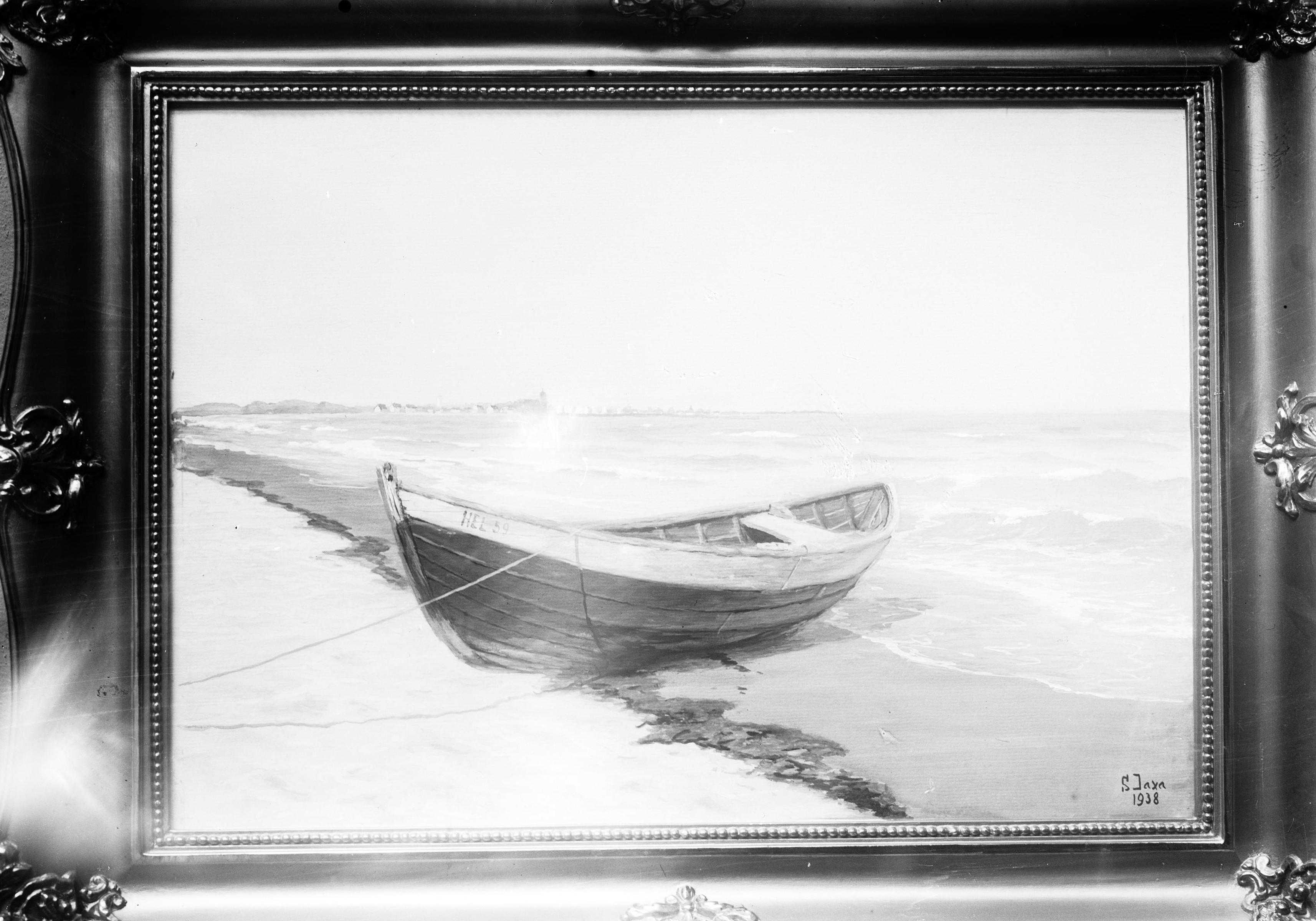 Obraz Sotera Jaxy-Małachowskiego na wystawie w TPSP w Krakowie, 1938 rok, źródło: Narodowe Archiwum Cyfrowe