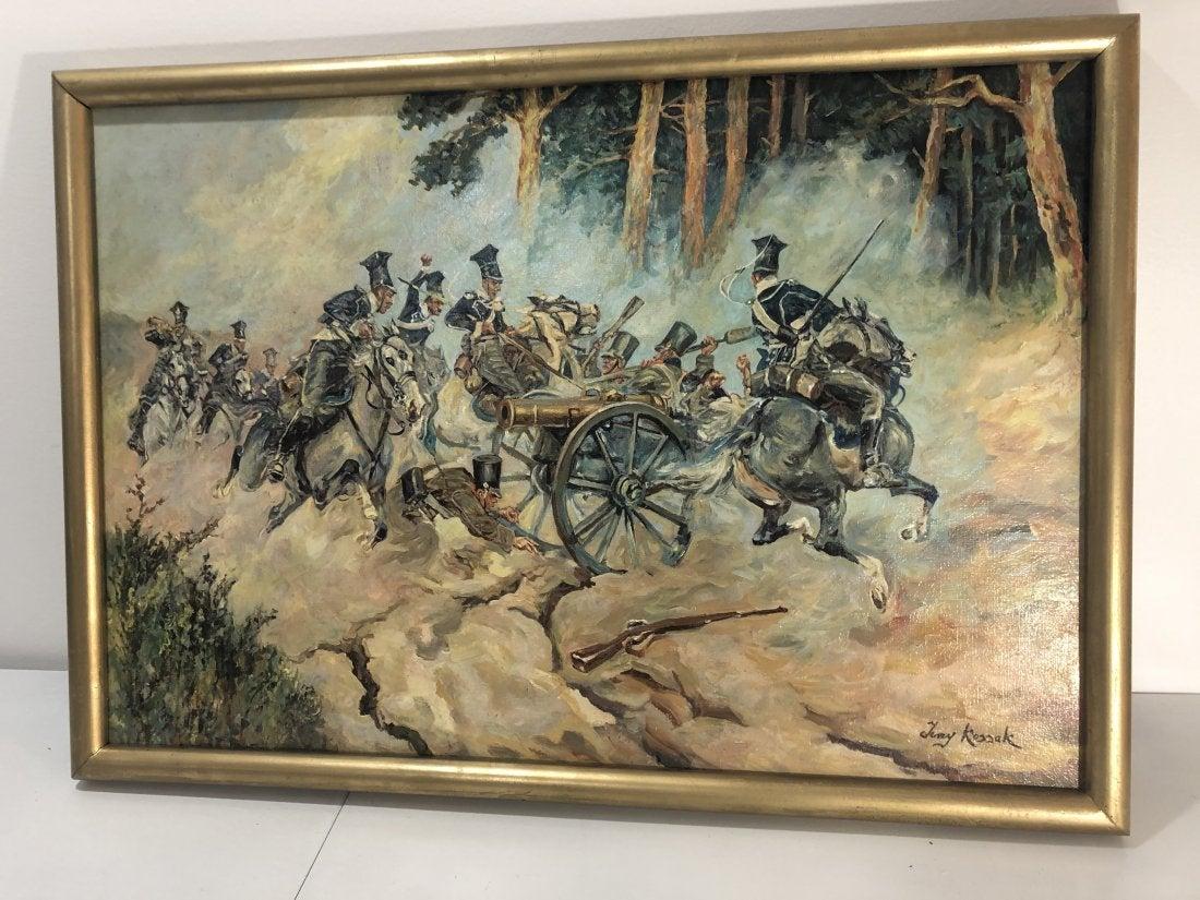 """Jerzy Kossak (1886-1955) """"Bitwa pod Stoczkiem"""", źródło: Black River Auction"""