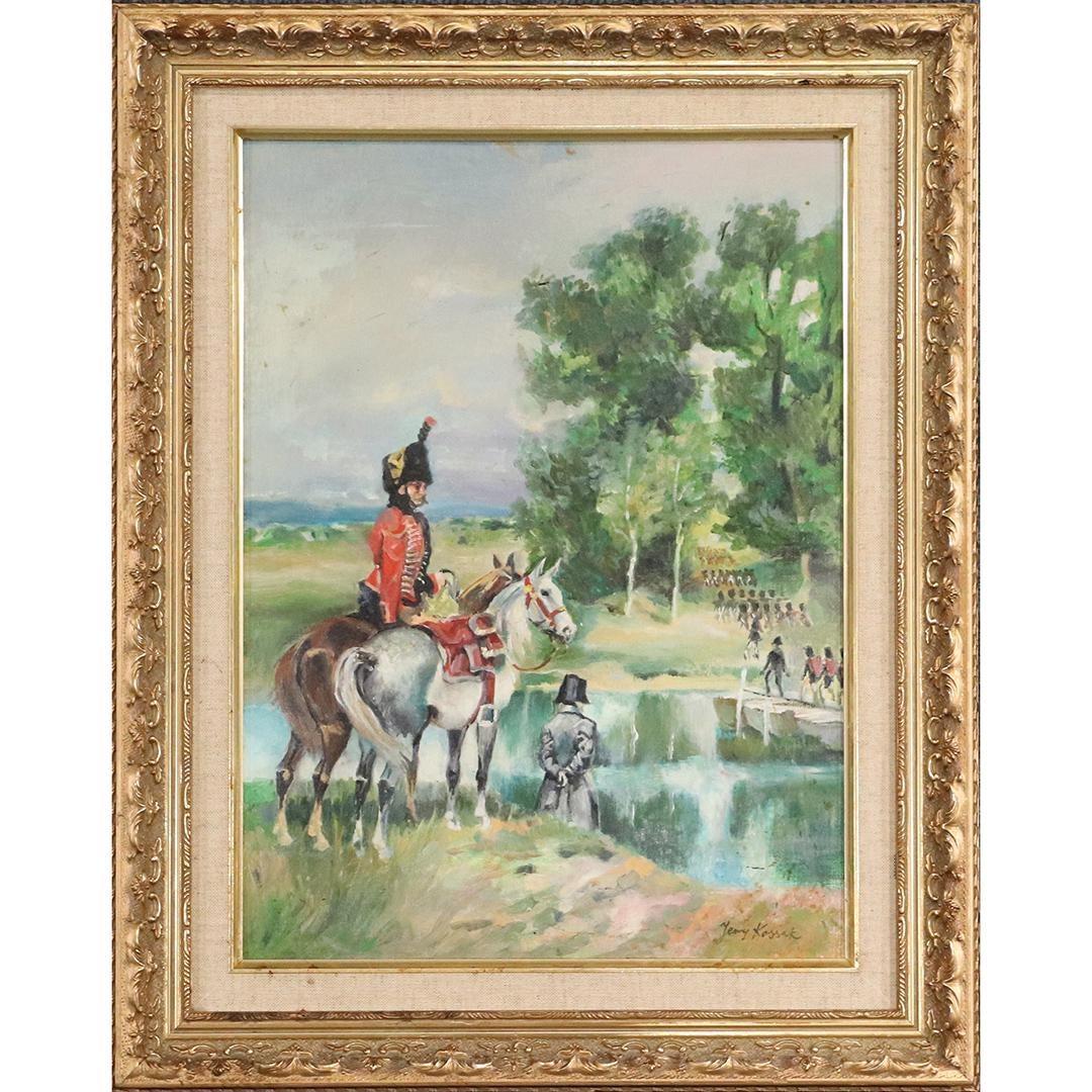 "Jerzy Kossak (1886-1955) ""Napoleon nad Berezyną"", źródło: Donny Malone Auctions"