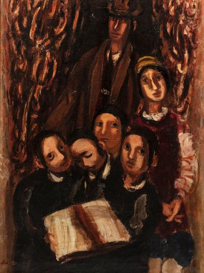 """Zygmunt Menkes (1896-1986) """"Rodzina"""", źródło: Millon et Associés"""