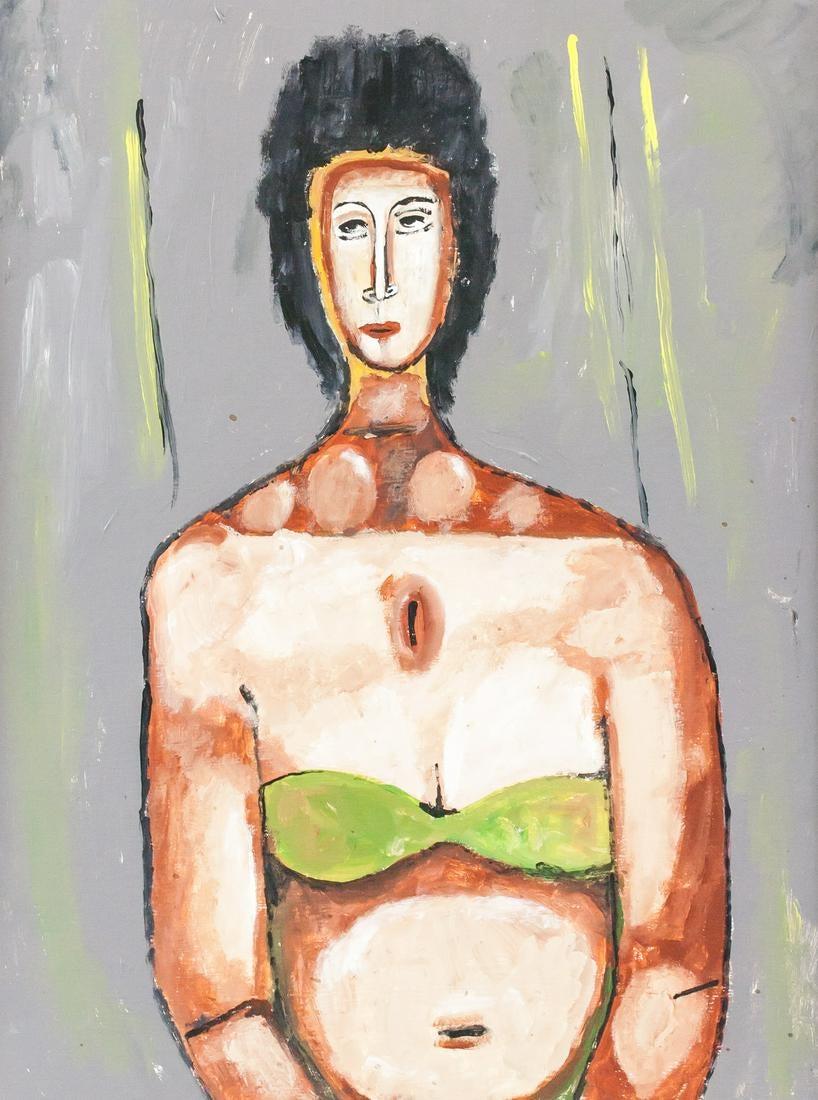 """Jerzy Nowosielski (1923-2011) """"Pływaczka"""", źródło: 888 Auction"""