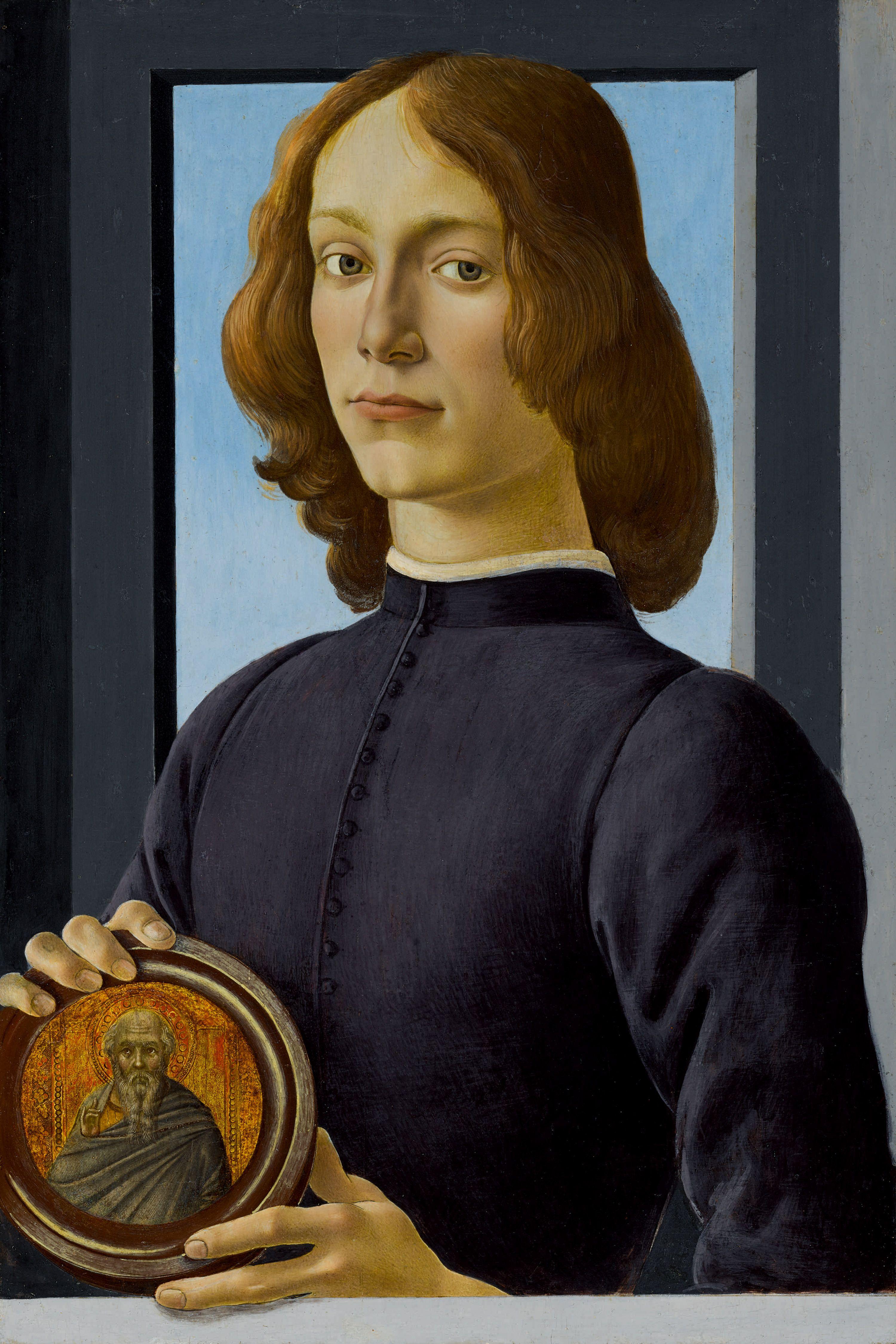 """Sandro Botticelli (1445-1510) """"Portret młodego mężczyzny z medalionem"""", źródło: Sotheby's"""