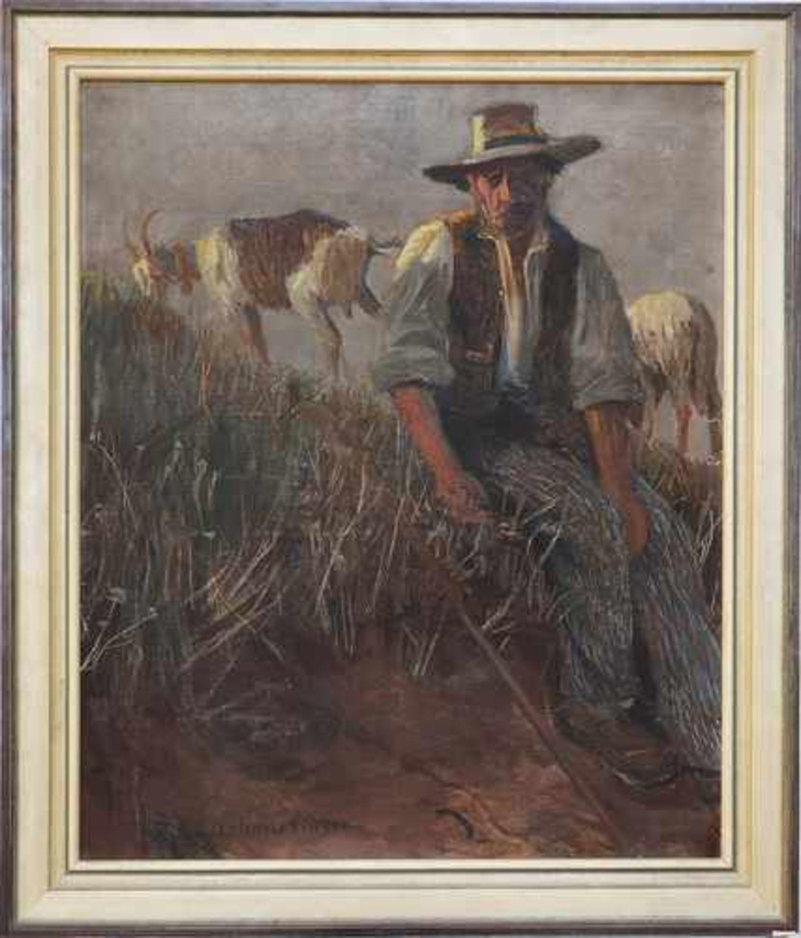 """Zygmunt Sixtus Dzbański (1874-1942) """"Pasterz"""", źródło: Auktionshaus Franke"""