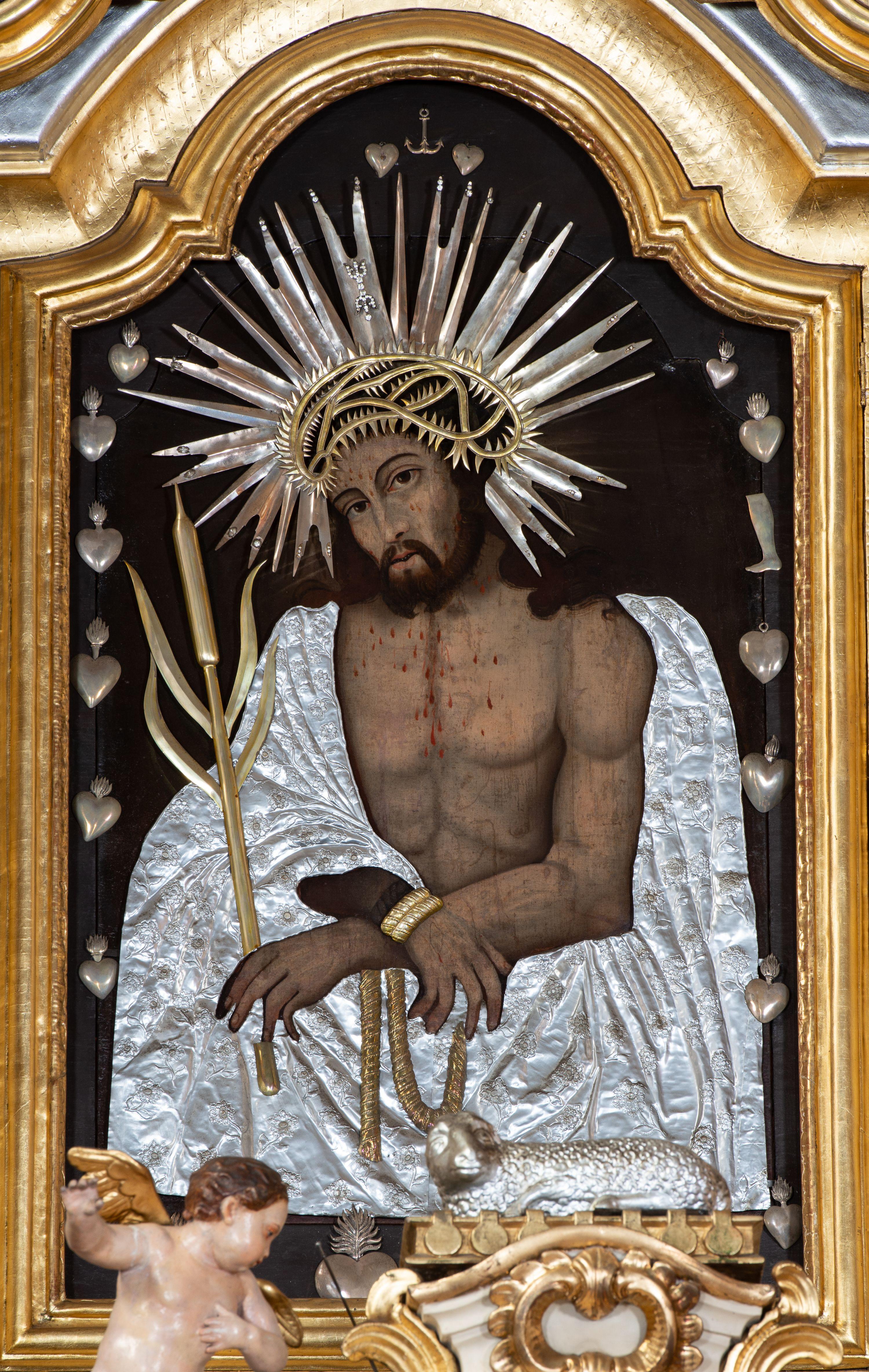 Chrystus Bielański – Ecce Homo, 1703-1704 r., autor nieznany, ołtarz w kościele pw. św. Macieja Apostoła w Bielanach, źródło: Sakralne Dziedzictwo Małopolski