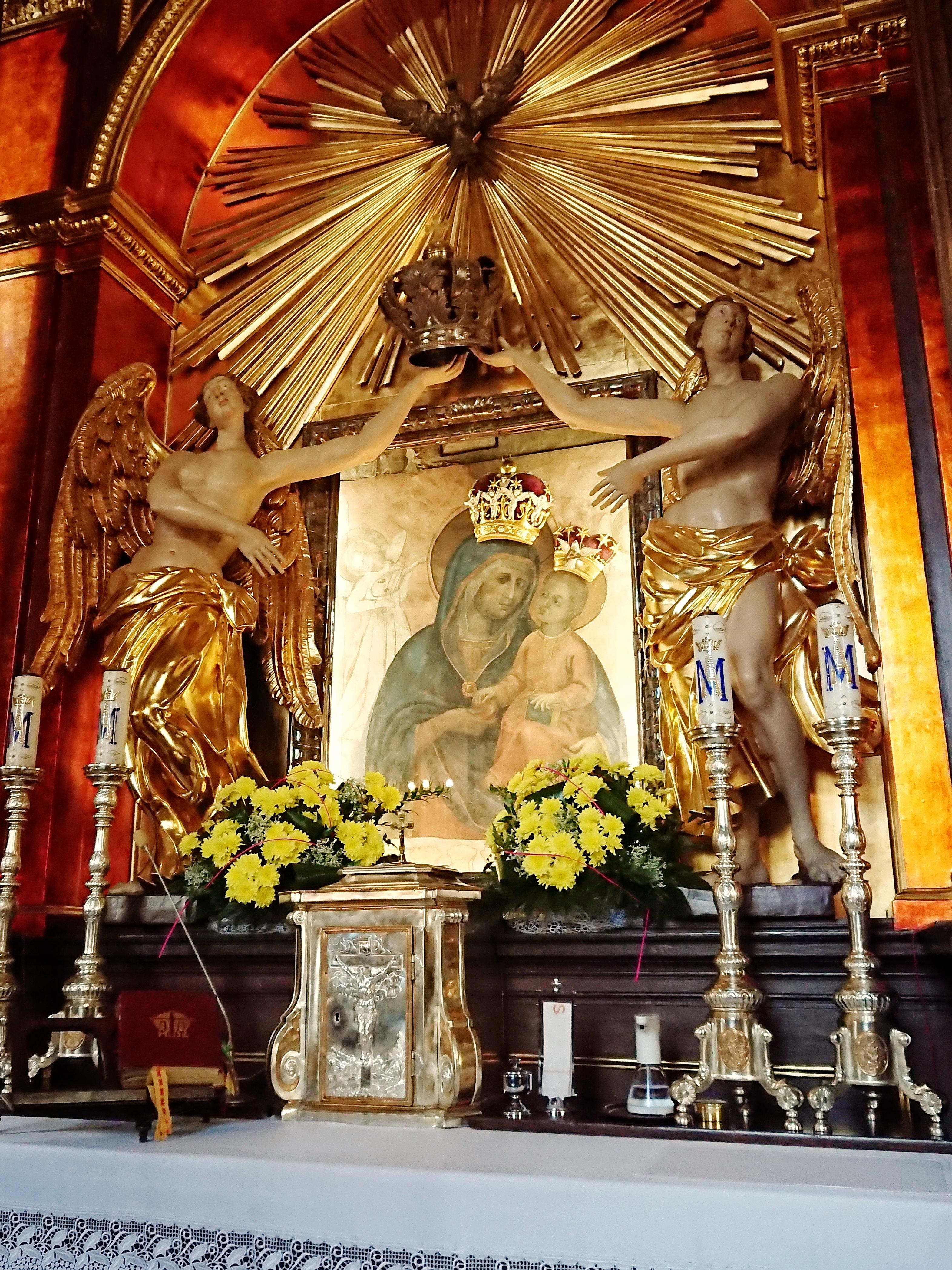 Matk Boska Piaskowa w kaplicy przy kościele Karmelitów na Piasku, źródło: archiwum autorki