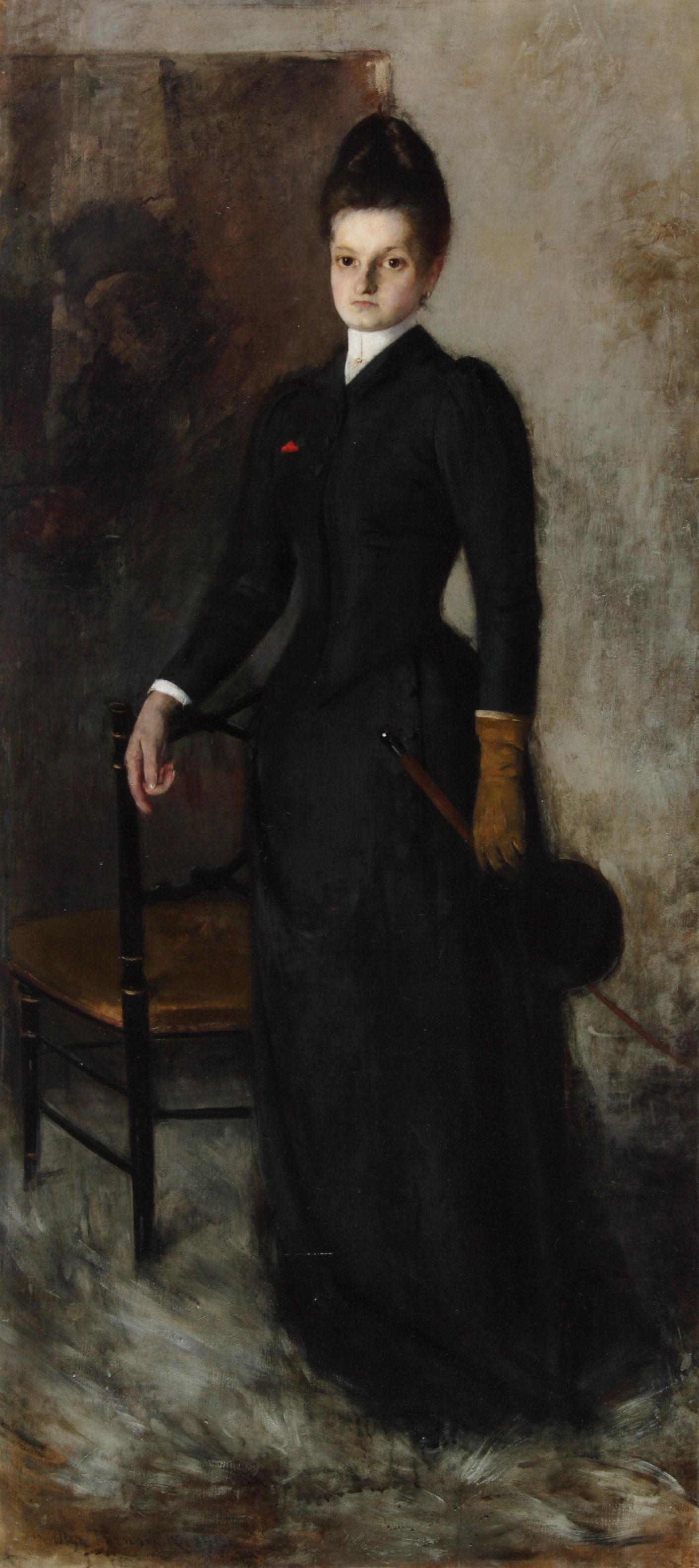 """Olga Boznańska (1865 - 1940) """"Amazonka (Portret siostry)"""", 1891 rok, źródło: Muzeum Narodowe w Kielcach"""