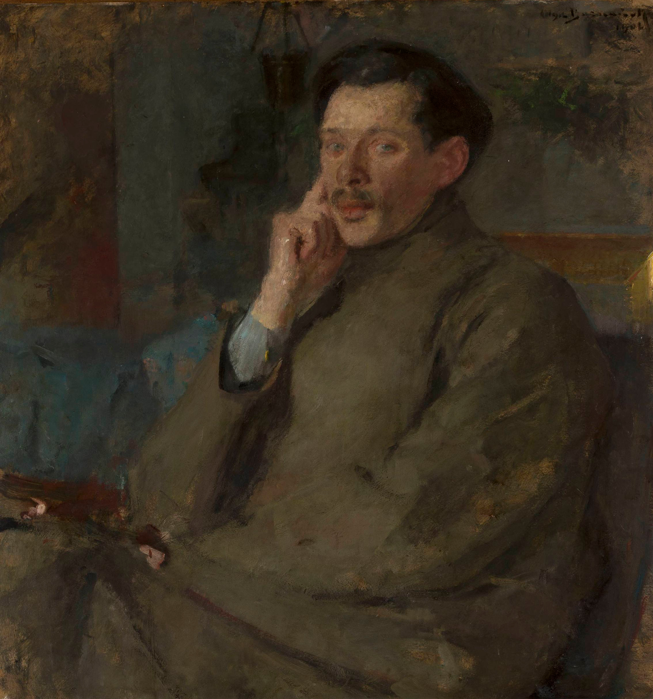 """Olga Boznańska (1865 - 1940) """"Portret Franciszka Mączyńskiego """", 1902 rok, źródło: Muzeum Narodowe w Warszawie"""