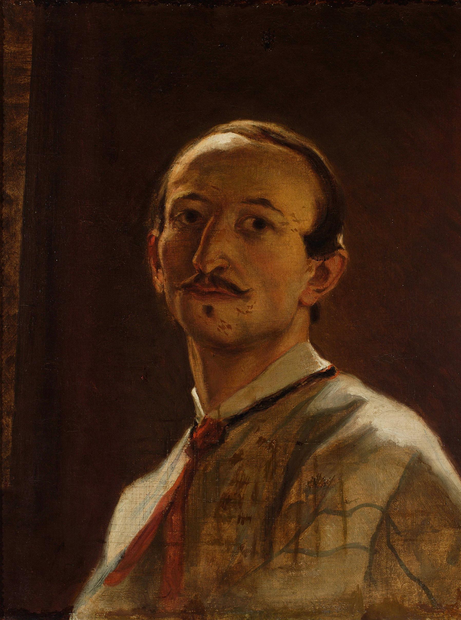 """Artur Grottger (1837-1867) """"Portret własny"""", 1866 rok, źródło: Muzeum Narodowe w Krakowie"""
