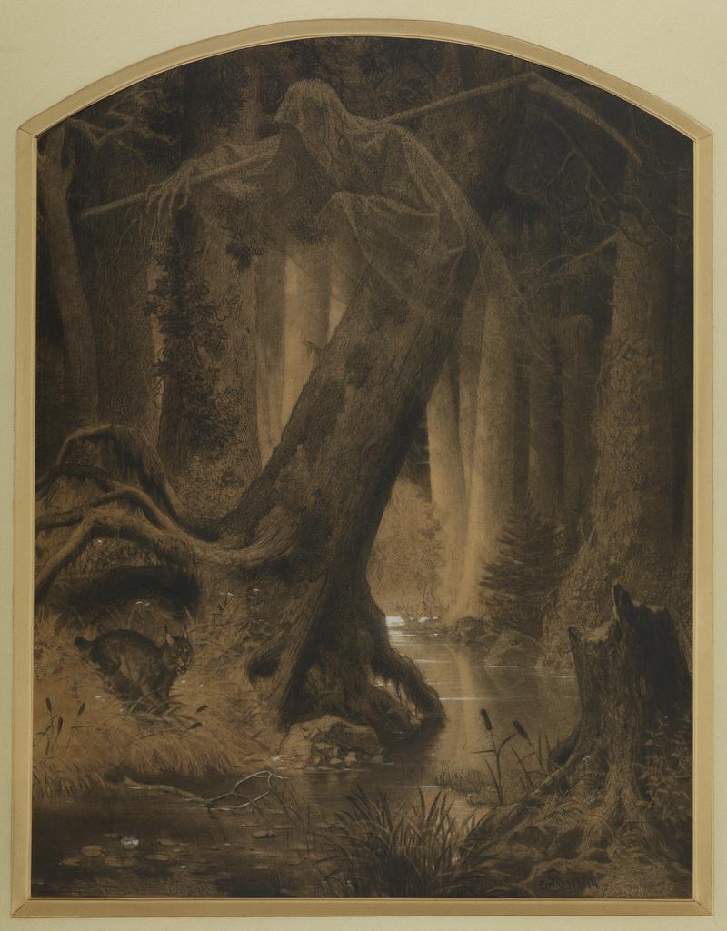 """Artur Grottger (1837-1867) """"Puszcza"""" z cyklu """"Lituania"""", 1864-1866 rok, źródło: Muzeum Narodowe w Krakowie"""