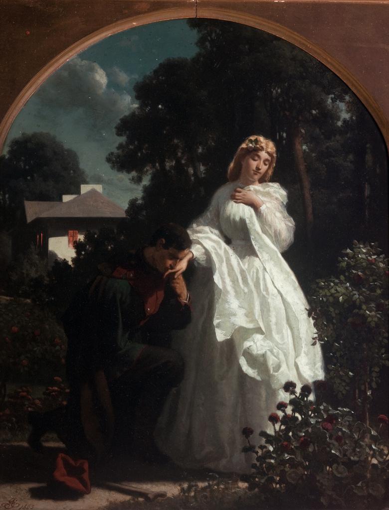 """Artur Grottger (1837-1867) """"Powitanie"""", 1865 rok, źródło: Muzeum Narodowe w Krakowie"""