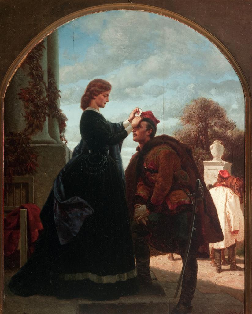 """Artur Grottger (1837-1867) """"Pożegnanie"""", 1866 rok, źródło: Muzeum Narodowe w Krakowie"""
