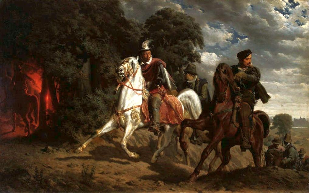 """Artur Grottger (1837-1867) """"Ucieczka Henryka Walezego"""", 1860 rok, źródło: Muzeum Wojska Polskiego w Warszawie"""