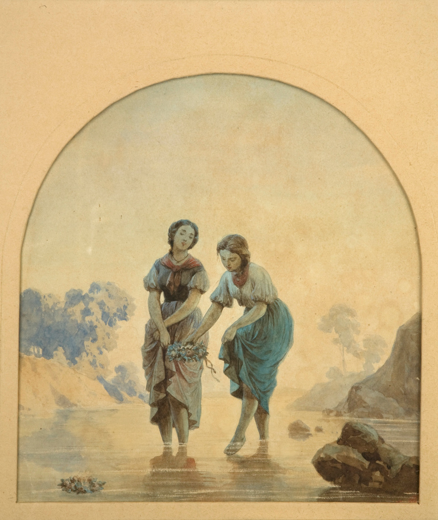 """Artur Grottger (1837-1867) """"Wianki"""", 1859 rok, źródło: Muzeum Narodowe w Krakowie"""