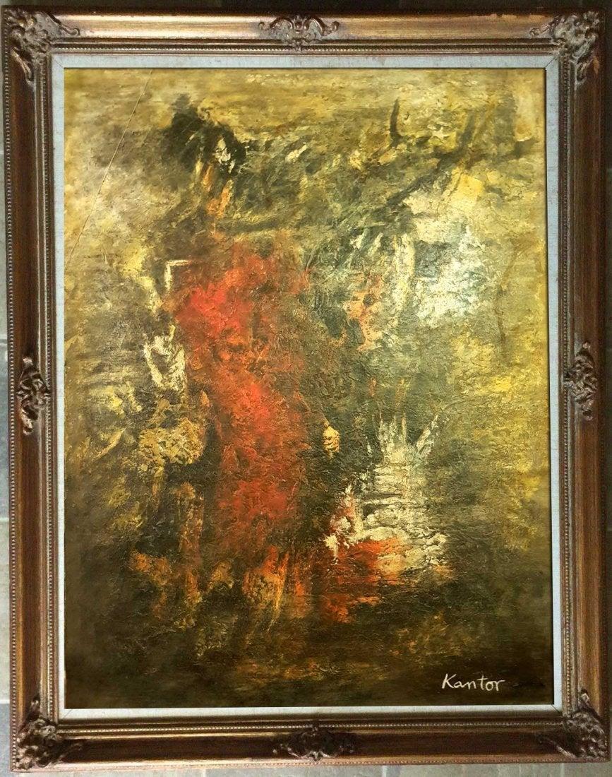"""Tadeusz Kantor (1915-1990) """"Kompozycja abstrakcyjna"""", źródło: Andrew Auctions"""
