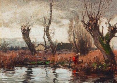 """Roman Kochanowski (1856-1945) """"Nad rzeką"""", źródło: Kaupp"""