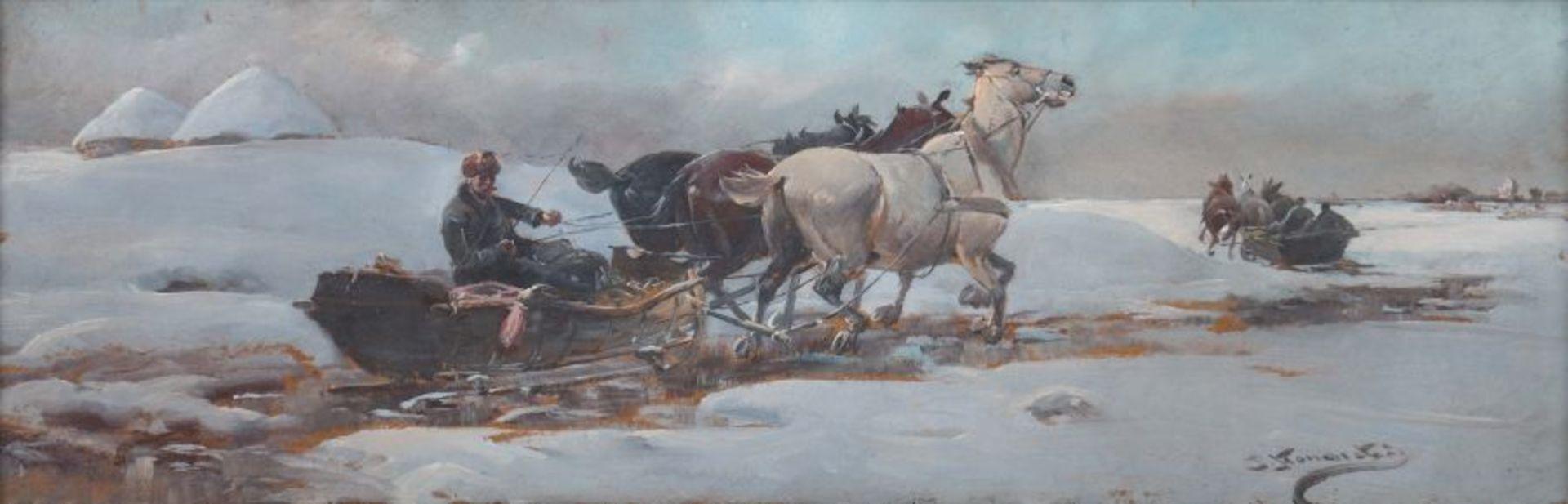 """J. Konarski (XIX / XX wiek) """"Sanna"""", źródło: Siebers Auktionen"""