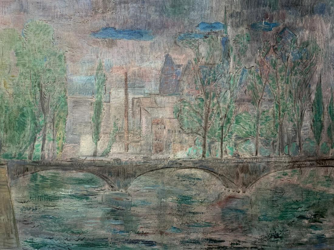 """Autor Nierozpoznany """"Most na Odrze"""", źródło: Kavanagh Auctions"""