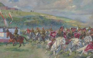 """Krakowskim szlakiem: Błonia i """"Święto kawalerii polskiej"""" Wojciecha Kossaka"""