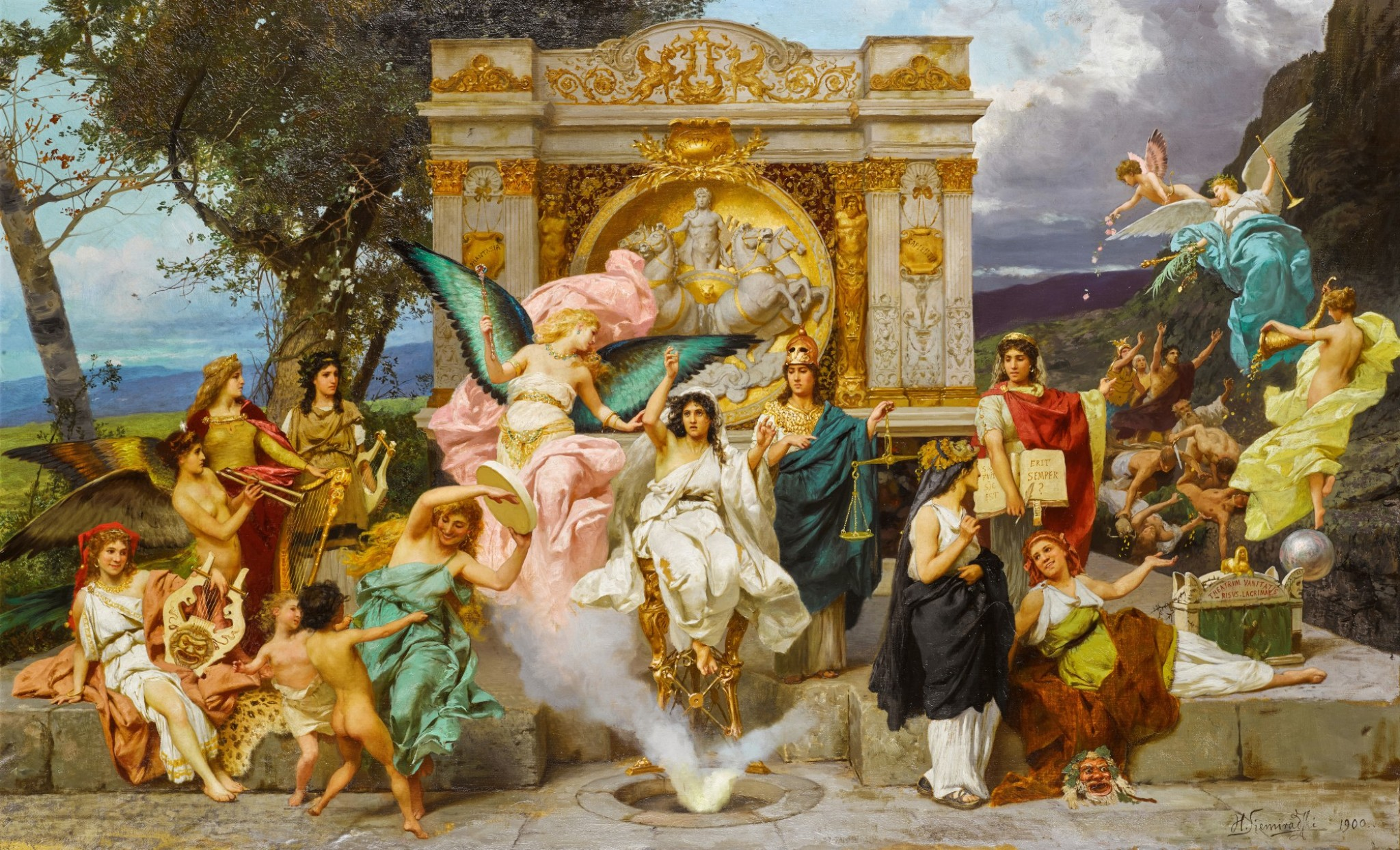 """Henryk Siemiradzki (1843-1902) """"Parnas"""", źródło: Sotheby's"""