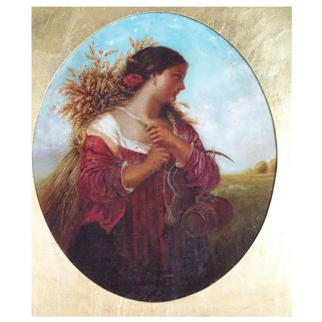 "Henryk Siemiradzki (1843-1902) ""Żniwiarka"", źródło: Kodner Galleries Inc."