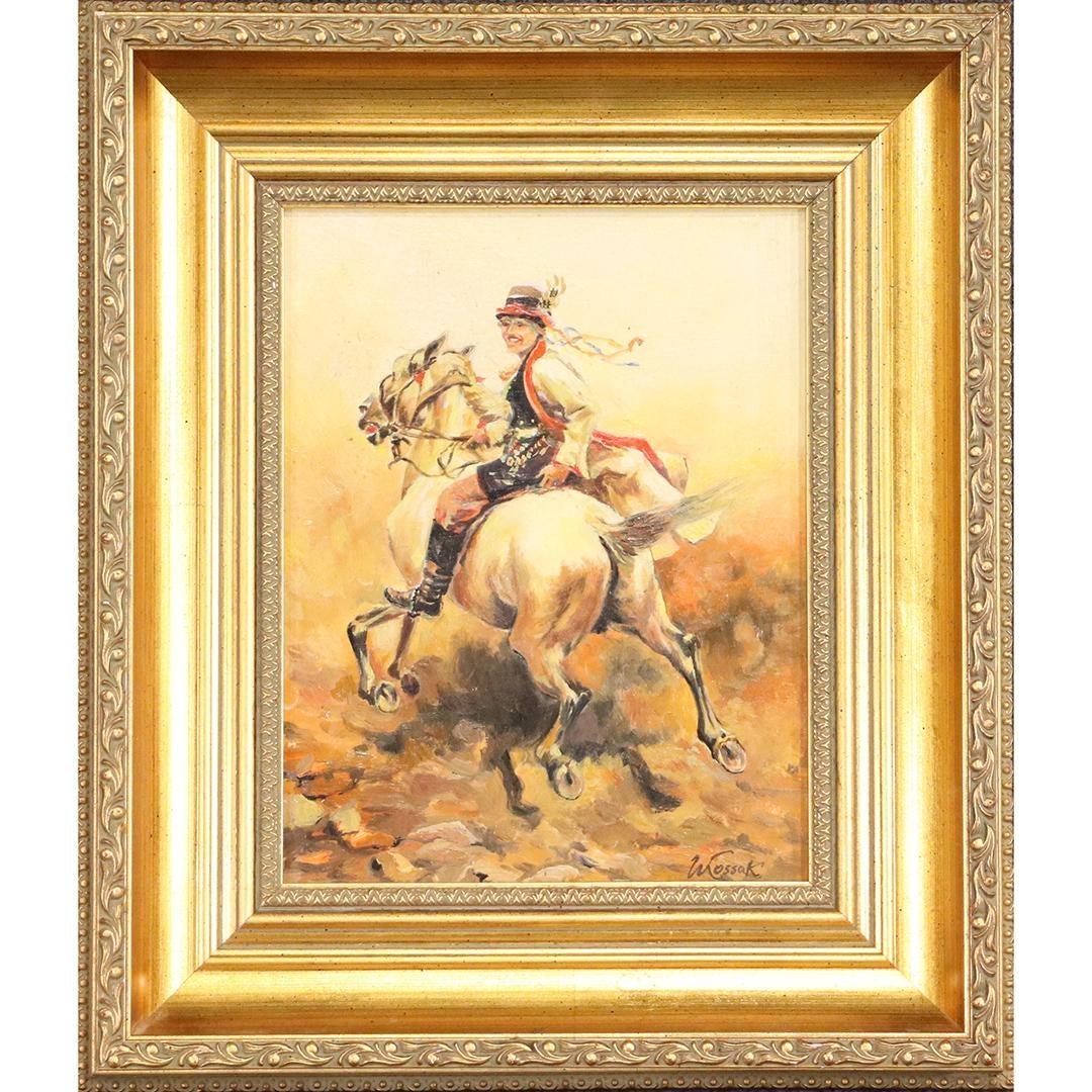 """Wojciech Kossak (1856-1942) """"Krakus na koniu"""", źródło: Donny Malone Auctions"""