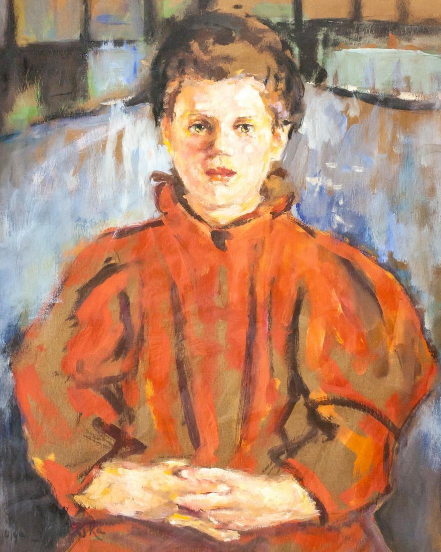 """Olga Boznańska (1865-1940) """"Portret dziewczynki"""", źródło: 888 Auctions"""