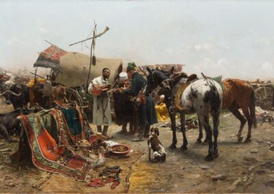 """Józef Brandt (1841-1915) """"Jarmark w Bałcie na Podolu"""", źródło: Desa Unicum"""