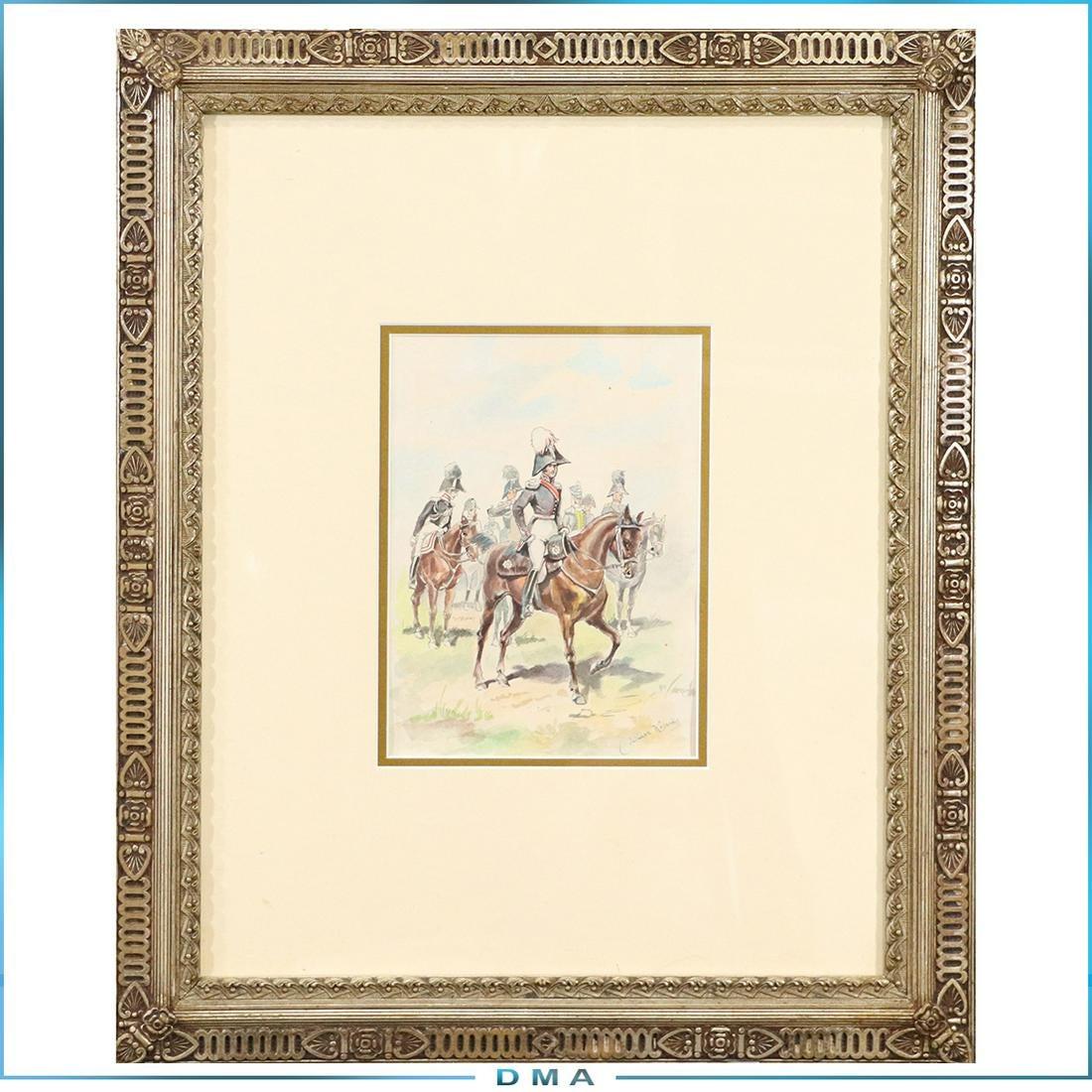 """Juliusz Kossak (1824-1899) """"Przed paradą"""", źródło: Donny Malone Auctions"""