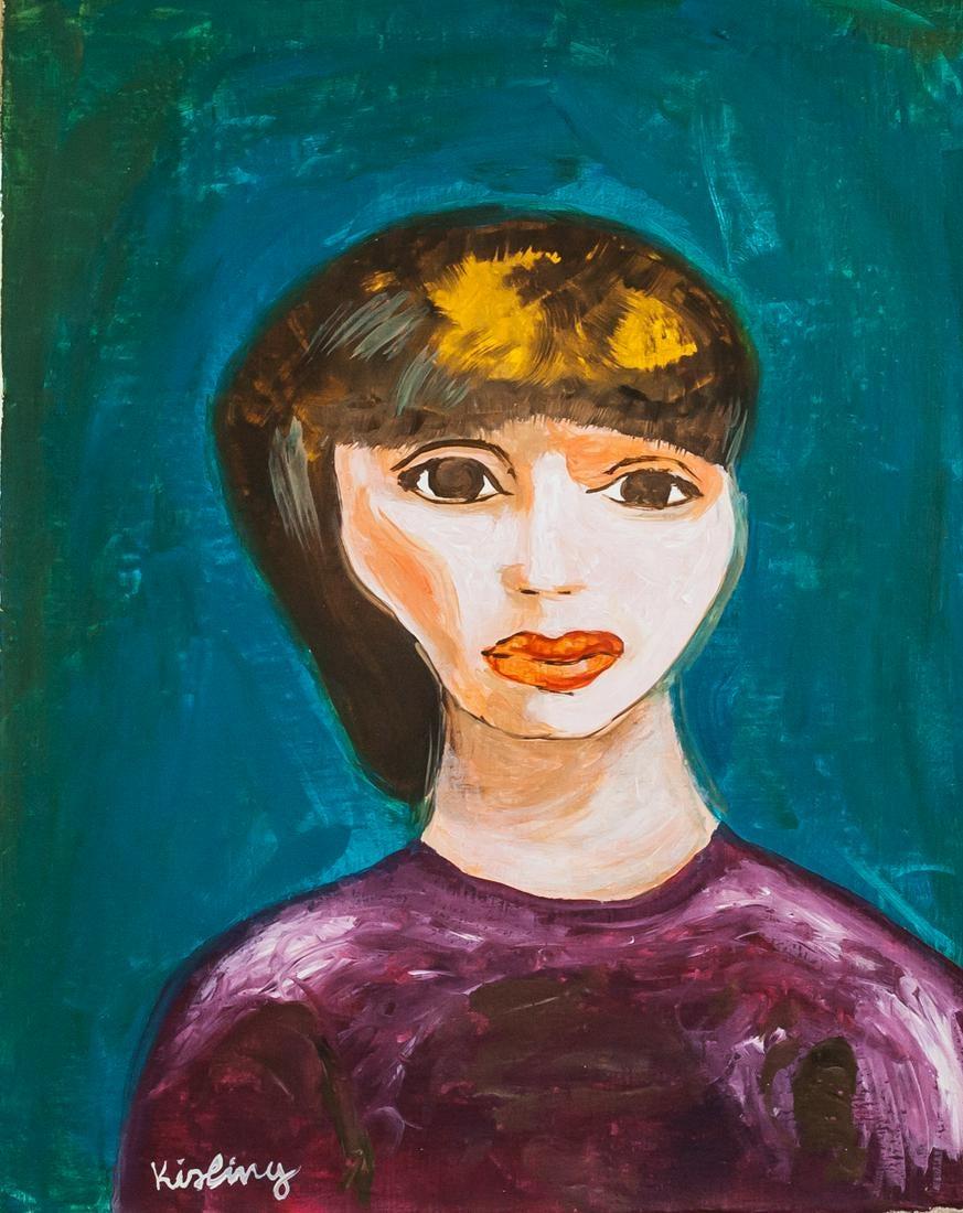 "Mojżesz Kisling (1891-1953) ""Brunetka"", źródło: 888 Auctions"