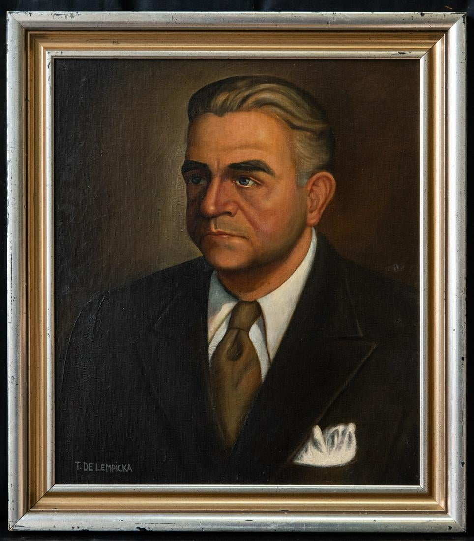 "Tamara Łempicka (1898-1980) ""Portret męski"", źródło: Time Auction"
