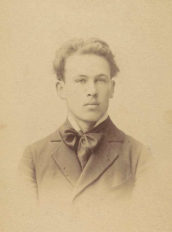Fotografia portretowa Witolda Wojtkiewicza, ok. 1898 roku, źródło: Polona