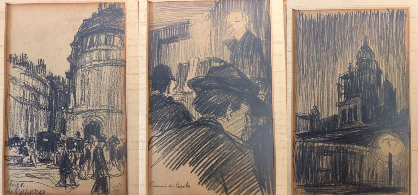 """Henryk Uziembło (1879-1949) """"Szkice z Paryża"""", źródło: ART on Paper"""