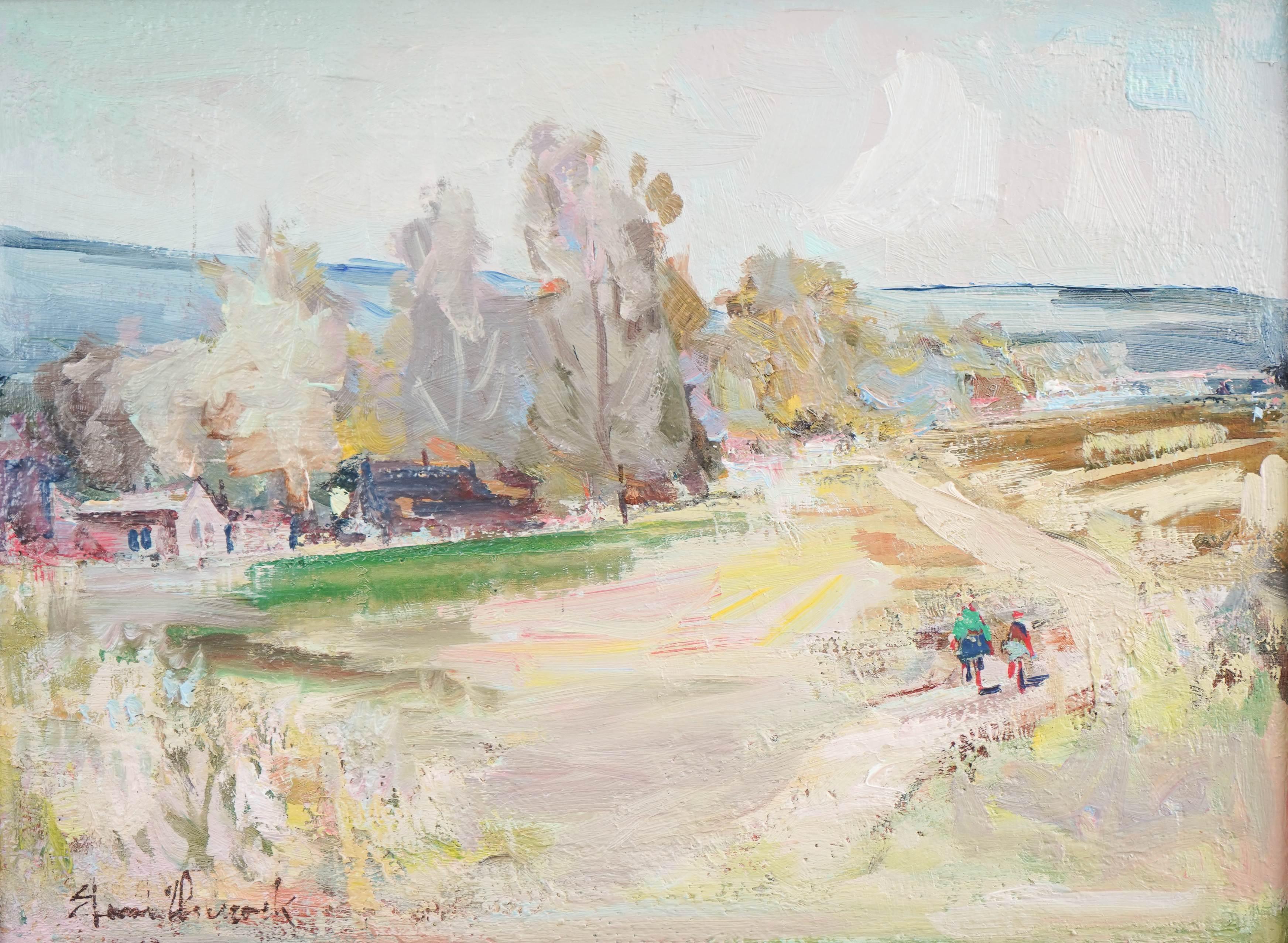 """Artysta Nierozpoznany """"Letni pejzaż"""", źródło: William Bunch Auctions & Appraisals"""