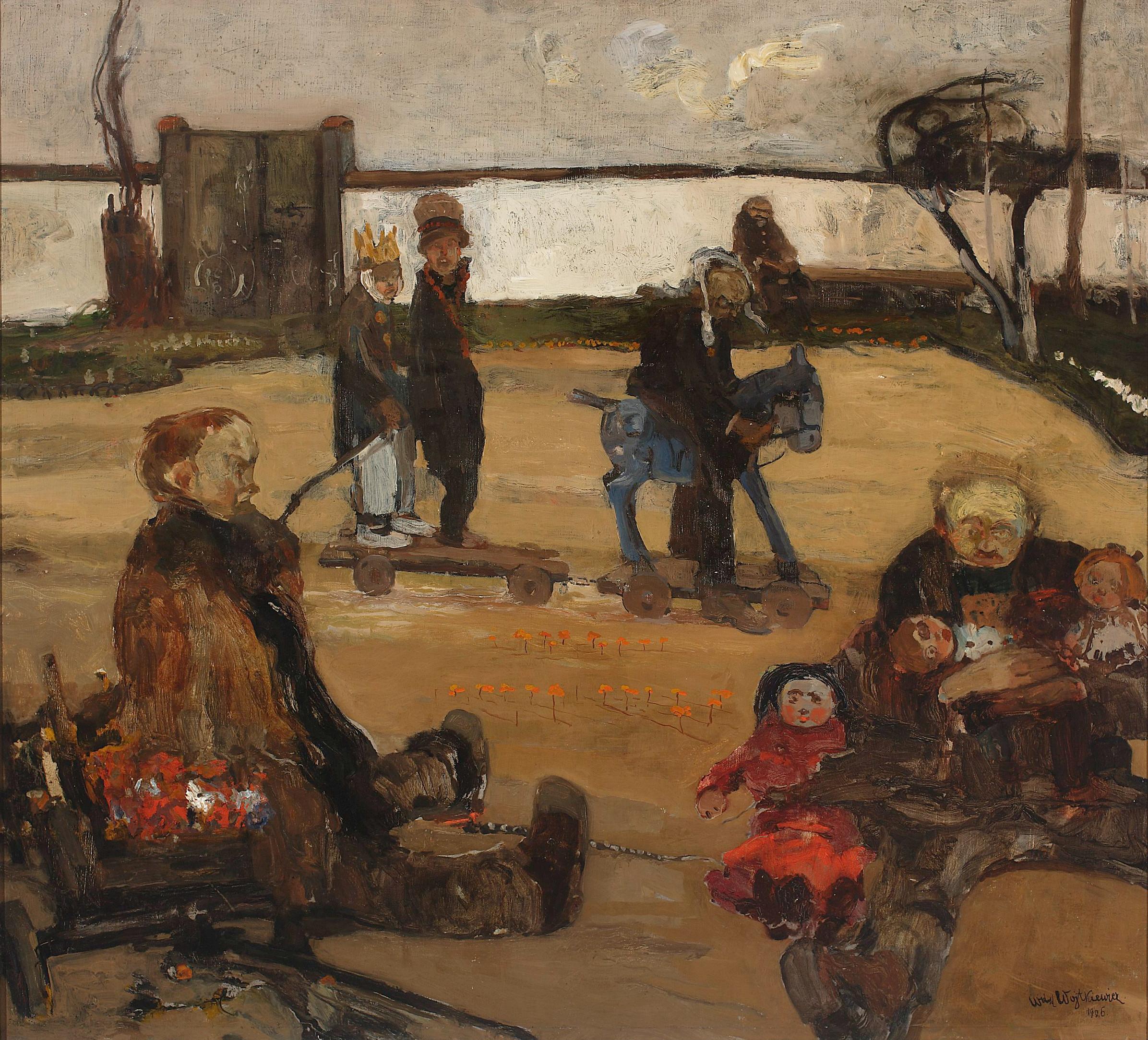 """Witold Wojtkiewcz (1879-1909) """"Cyrk wariatów"""", 1906 rok, źródło: Muzeum Narodowe w Warszawie"""