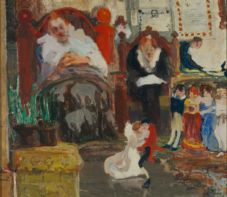 """Witold Wojtkiewcz (1879-1909) """"Marionetki"""", 1907 rok, źródło: Muzeum Narodowe w Warszawie"""