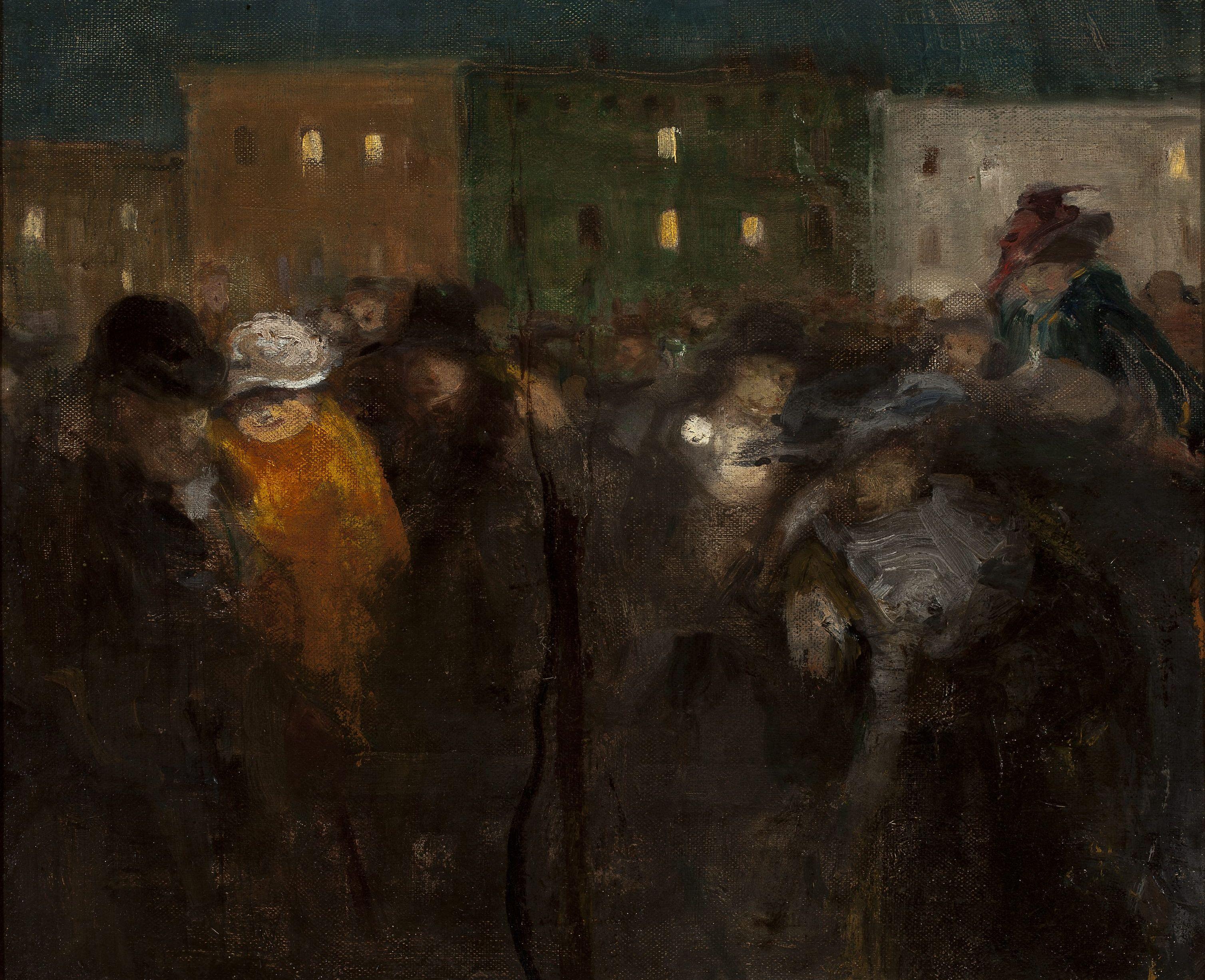 """Witold Wojtkiewcz (1879-1909) """"Mi–Caréme w Paryżu"""", 1908 rok, źródło: Muzeum Narodowe w Warszawie"""